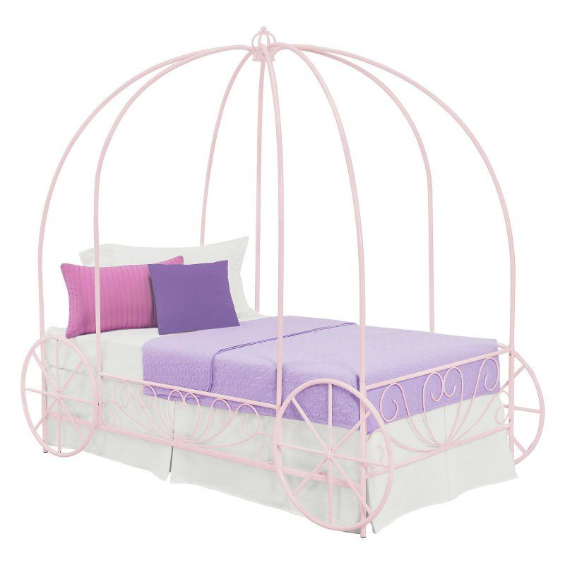 DHP Metal Twin Carriage Bed Pink - 3259198 | Products | Pinterest
