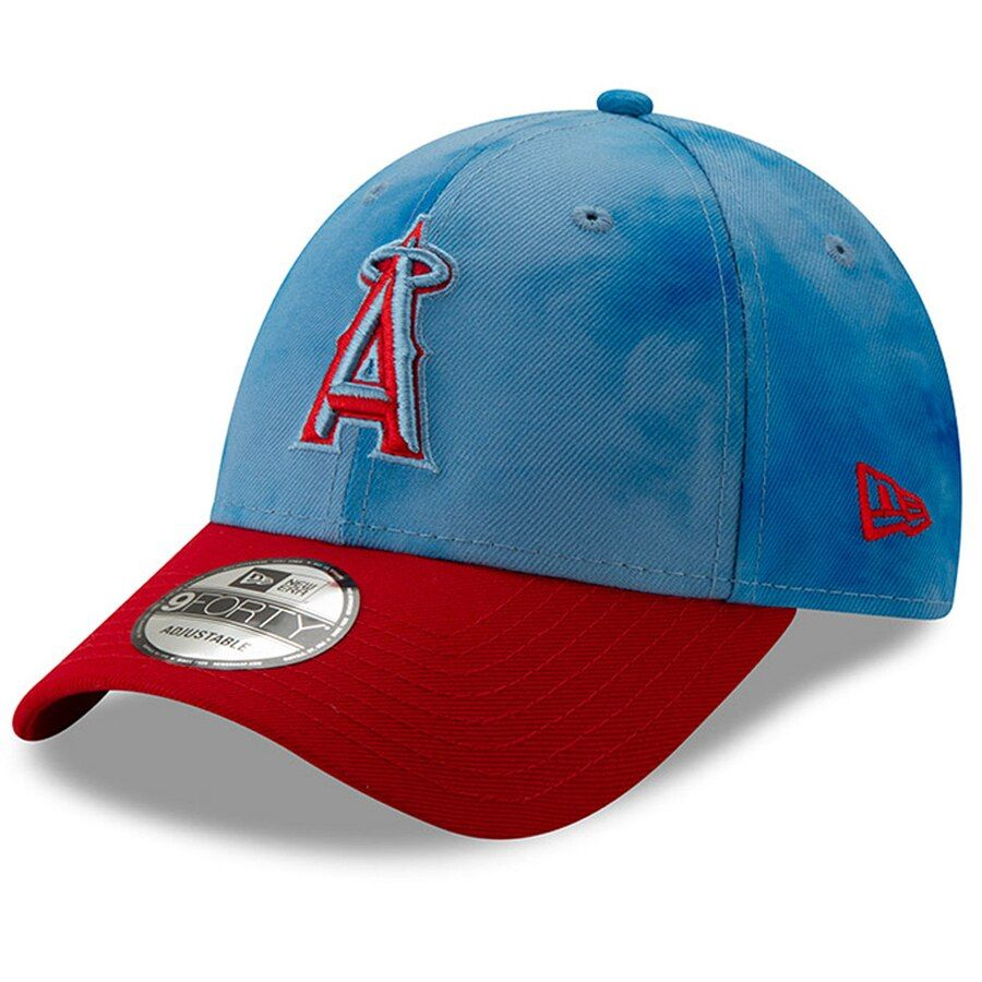 sports shoes 53297 15435 Men s Los Angeles Angels New Era Blue Red 2019 Father s Day 9FORTY Adjustable  Hat,