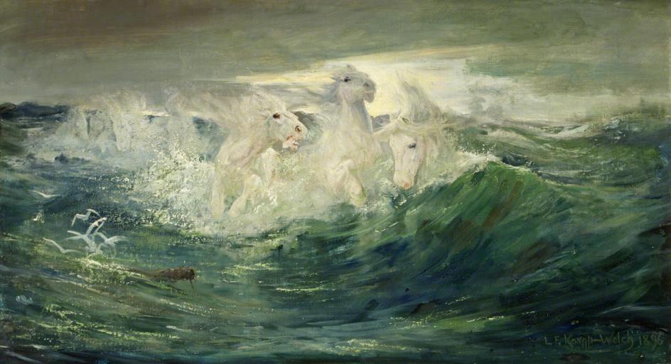 Foam Horses, Lucy Kemp-Welch, 1896.