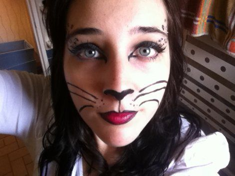 maquillage chat carnaval halloween face makeup. Black Bedroom Furniture Sets. Home Design Ideas