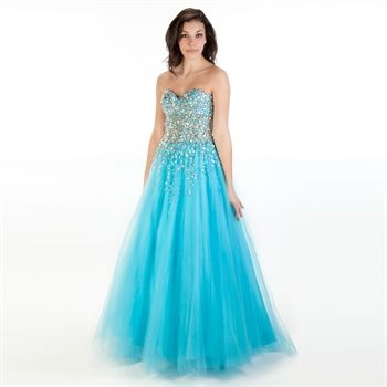 Jovani Juniors Beaded Bodice Ball Gown with Wrap | from Von Maur ...