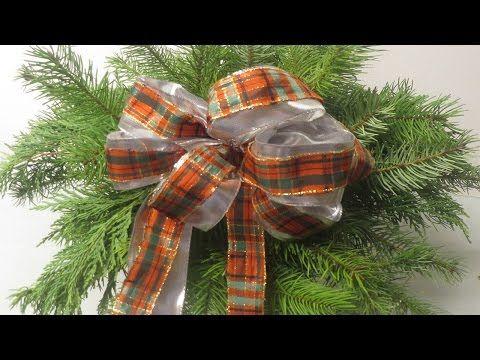 schleife f r tannenbaum geschenke raumdekoration deko ideen mit flora shop youtube weihnachten. Black Bedroom Furniture Sets. Home Design Ideas