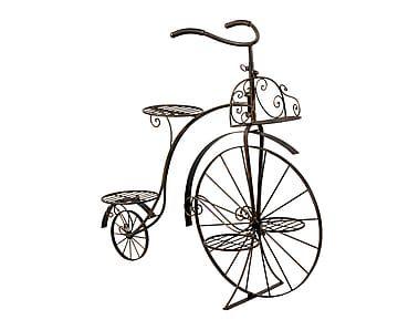 Macetero en forma de bicicleta de forja eva proyecto macetas maceteros jardineras y - Bicicleta macetero ...
