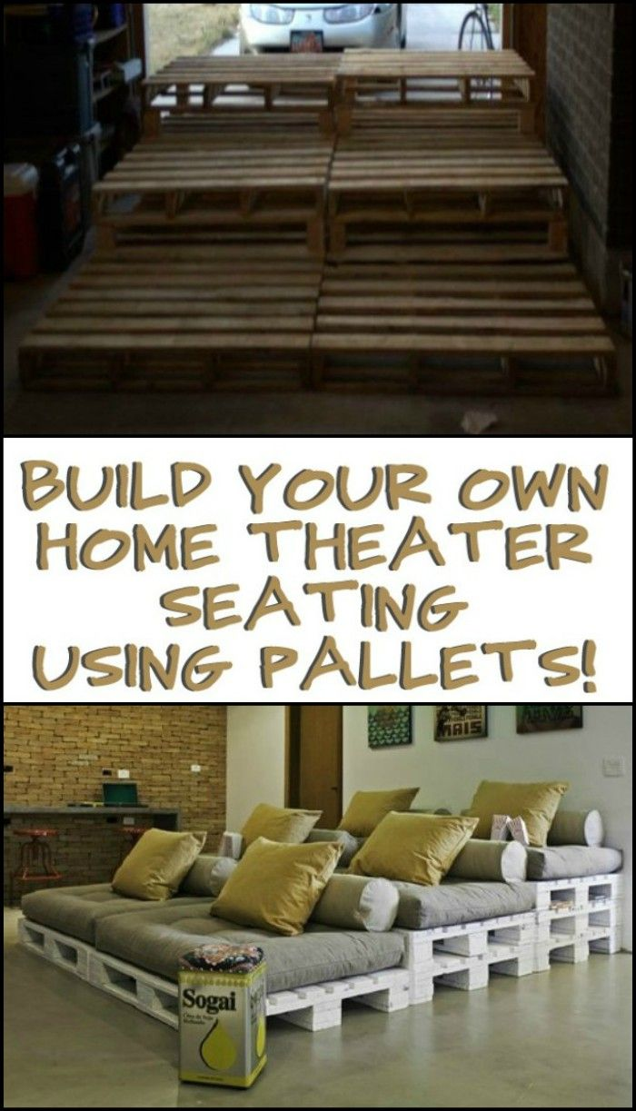 Home Cinema Sessel Build A Movie Theater Sofa From Pallets In The Garden Diy