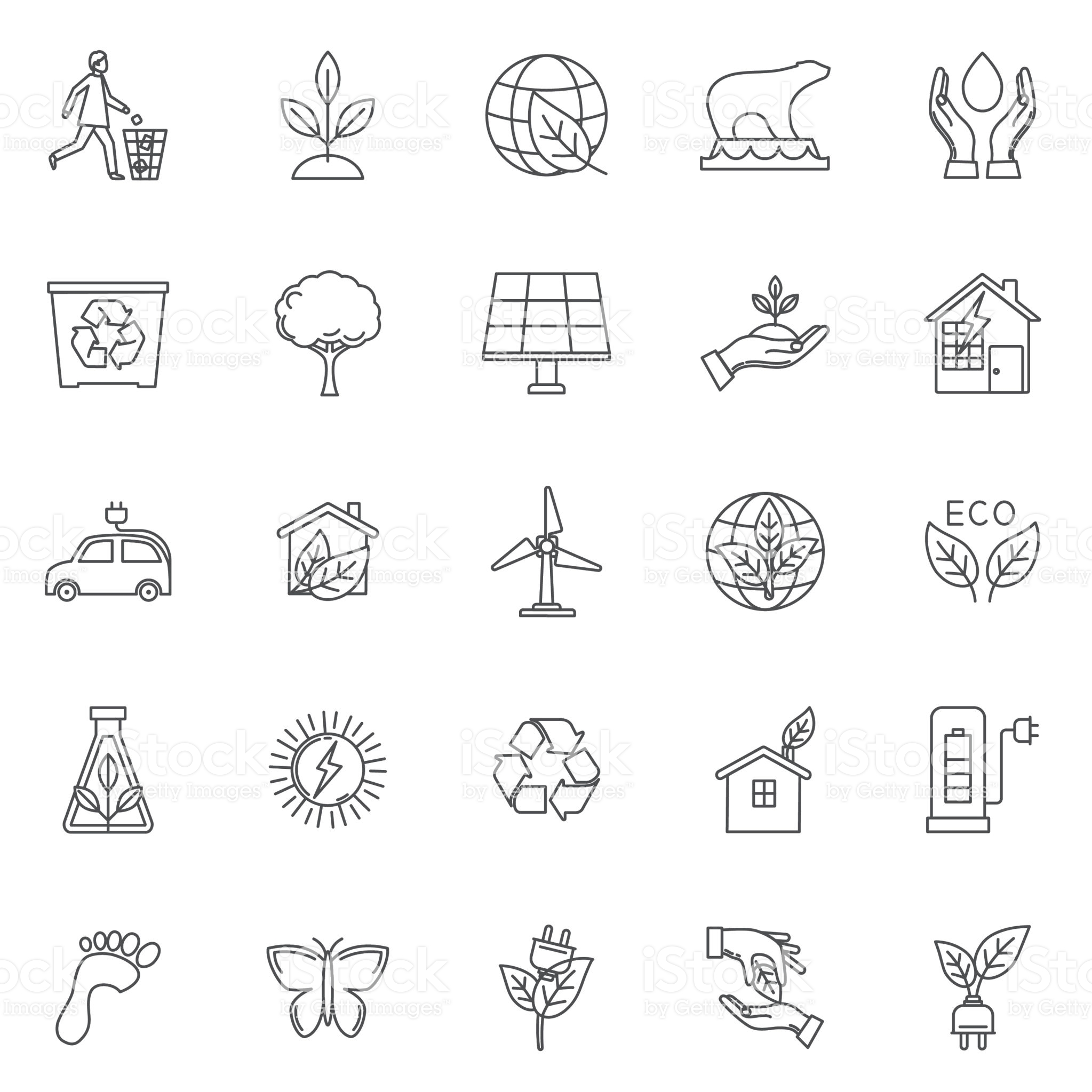 Environment Thin Line Icon Set Royalty Free Environment Thin Line Icon Set Stock Vector Art More Images Of B Line Icon Icon Set Vector Hand Drawing Reference