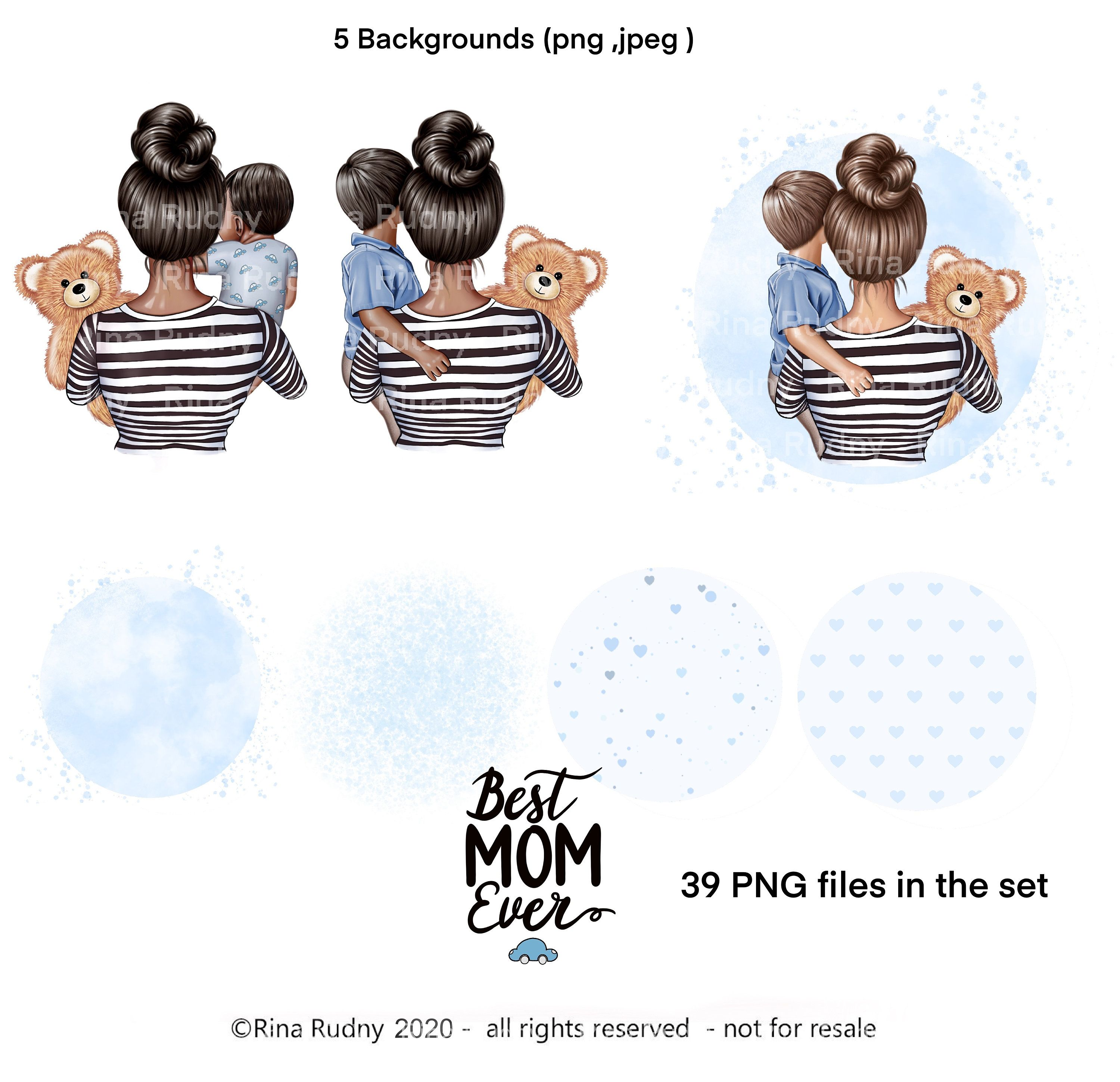 Mothers Day Clipart Mom Son Clipart Mommy Clipart Teddy Etsy Teddy Bear Clipart Kids Clipart Bear Clipart