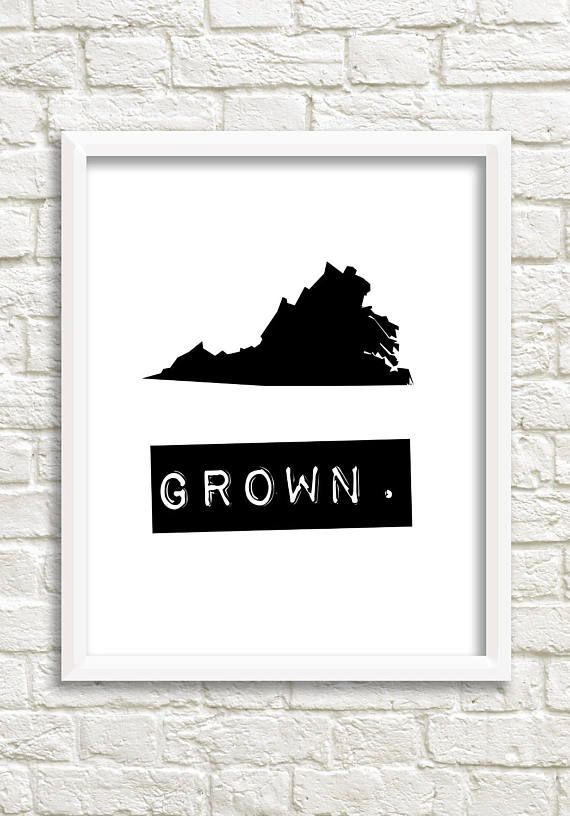 A black and white print of your home state of virginia to show off that you