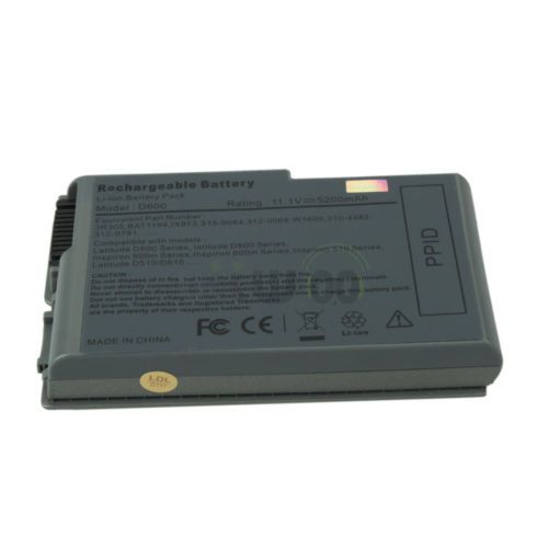 6 Cell 5200mAh Battery for Dell Latitude D500 D505 D510 D520 D530 D600 N9406
