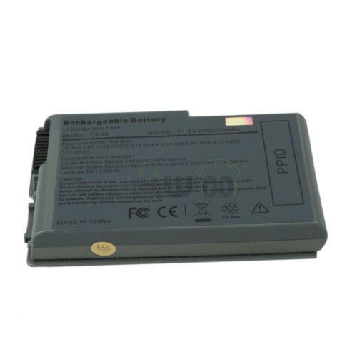 6 Cell 5200mAh Battery for Dell Latitude D500 D505 D510 D520 D530 D600 N9406