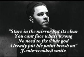 J.cole  crooked smile