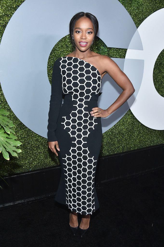 Aja Naomi King in Roland Mouret attends the 2016 GQ Men of the Year Party. #bestdressed