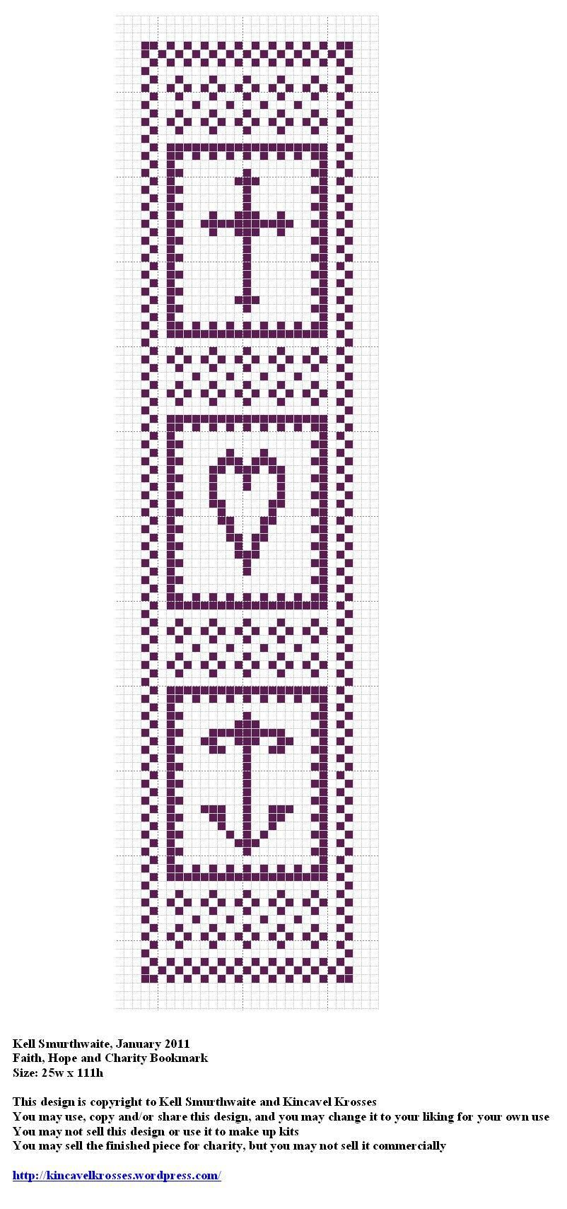 Faith Hope and Charity Bookmark   Sticken religiöse Motive ...