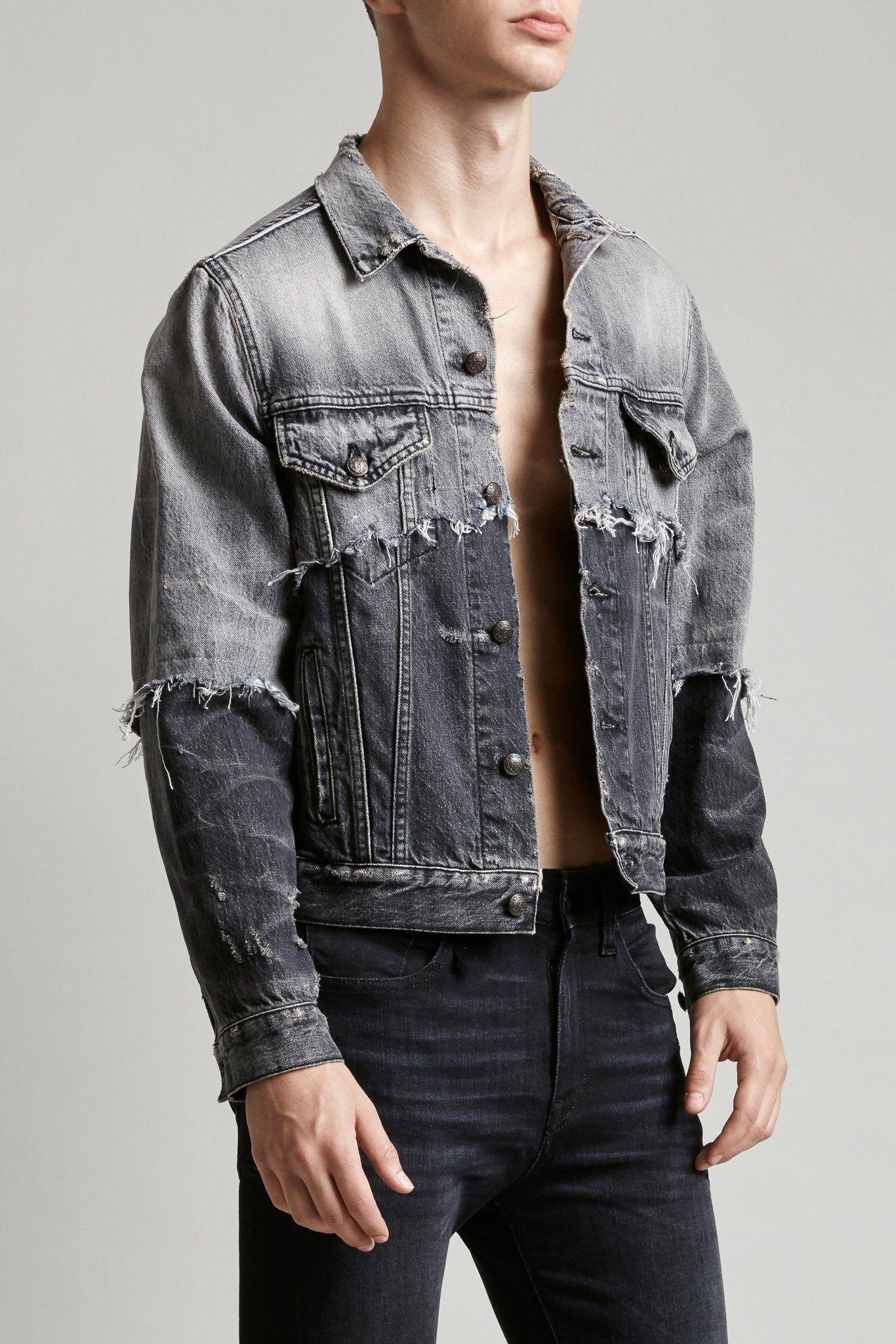 Double Shredded Sky Trucker Denim Jacket Trend Fashion Hacks Clothes Denim Fashion [ 2048 x 1366 Pixel ]