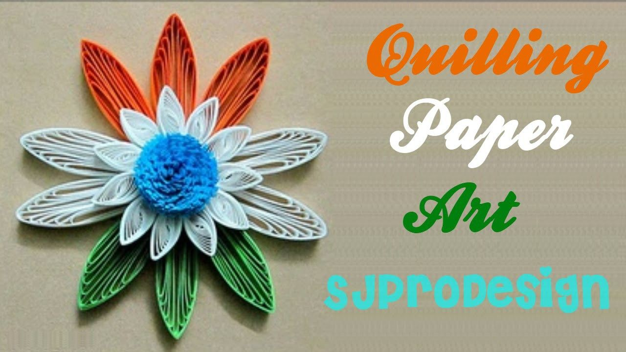 Art Craft How To Make Beautiful Republic Day Flower Using Paper