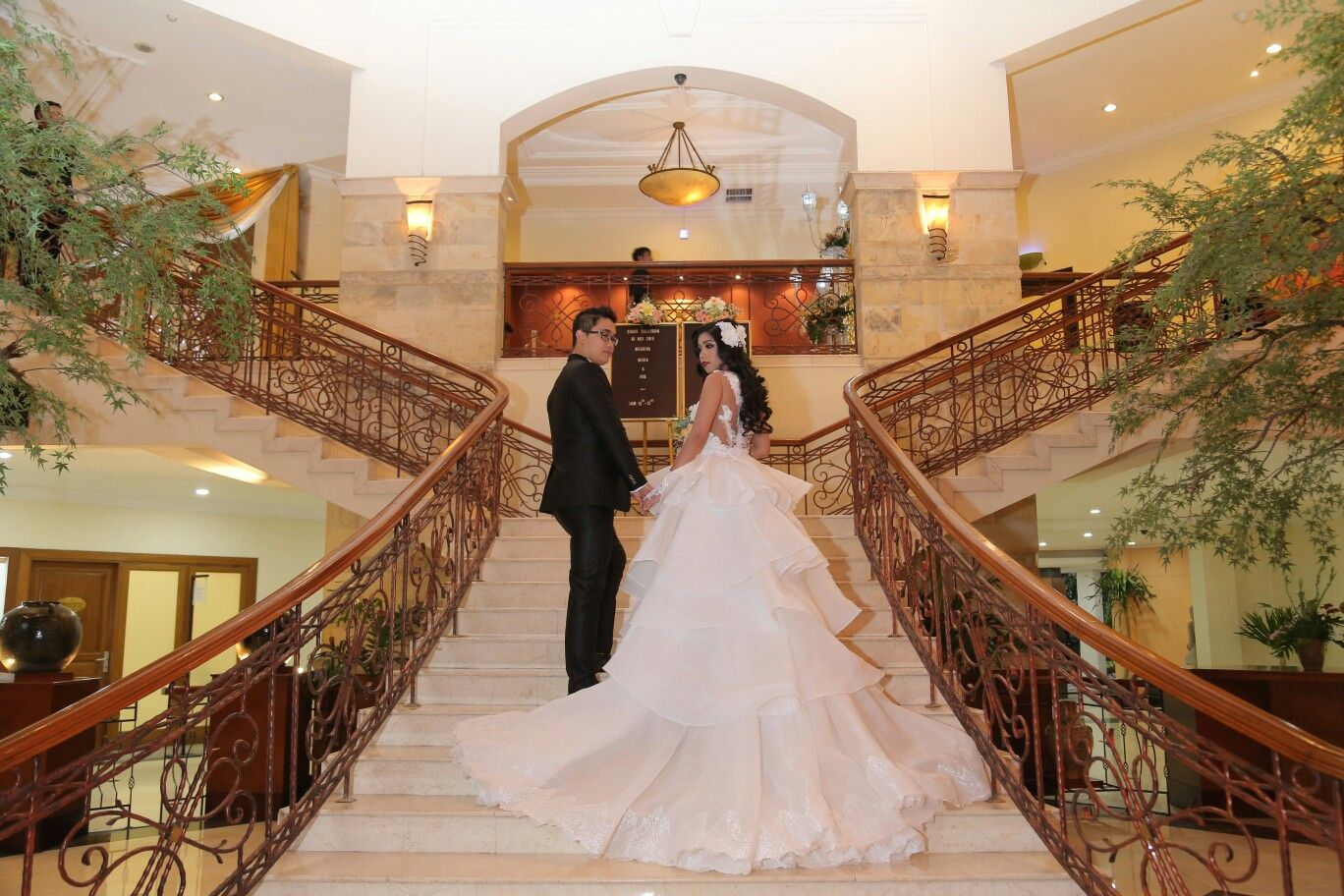 Wedding white gown by Seyvia Charis