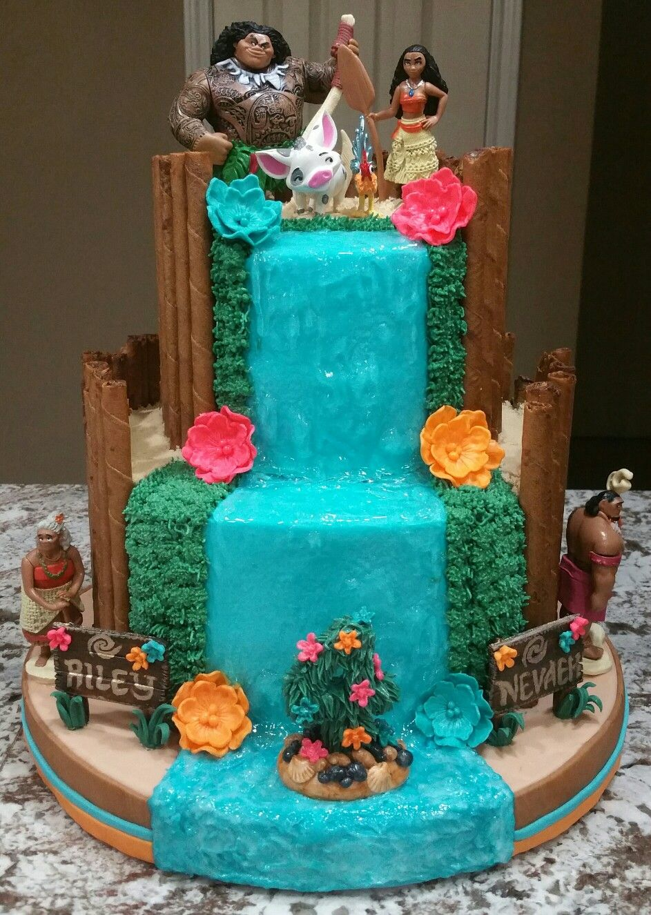 Moana Birthday Cake Custom Cake Creations By
