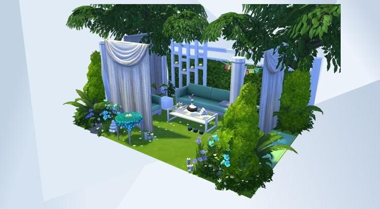 Check Out This Room In The Sims 4 Gallery Garden Garten Outdoor Outside Relax Summer Sommer Party Mode Sims House Design Sims 4 House Design Sims 4