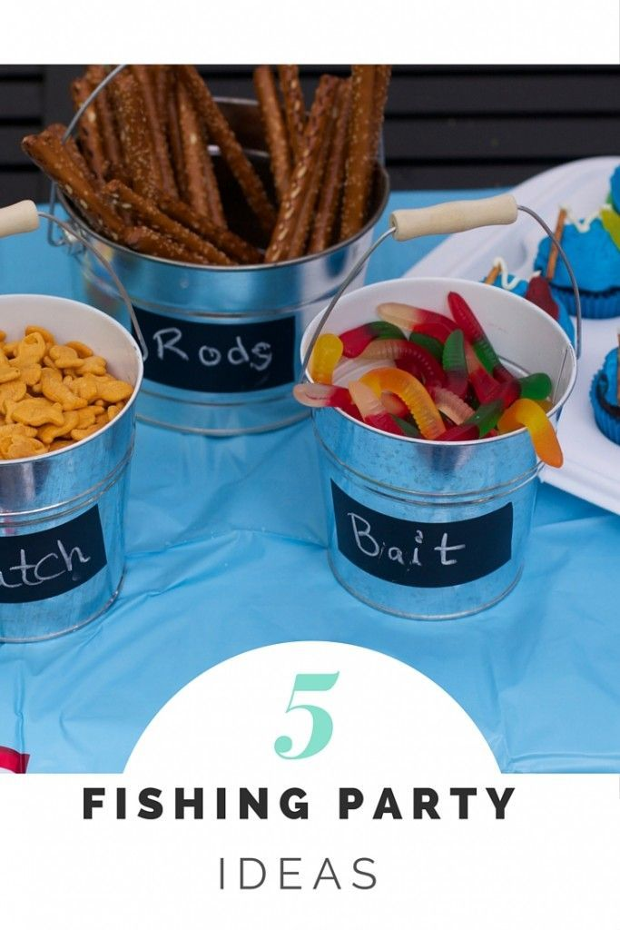 Fishing birthday party cupcakes and party favors party for Fishing theme party ideas