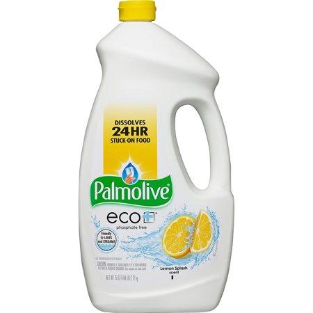Palmolive Eco Gel Dishwasher Detergent Lemon Splash 75 Fluid