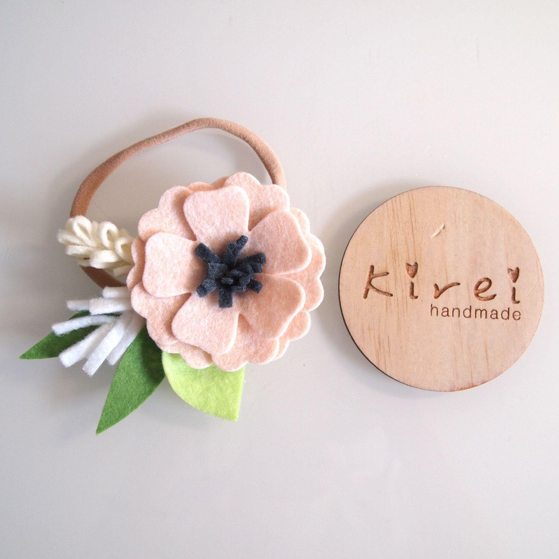 Heavenly Pink Anemone Single Flower Headband Or Clip Anemone