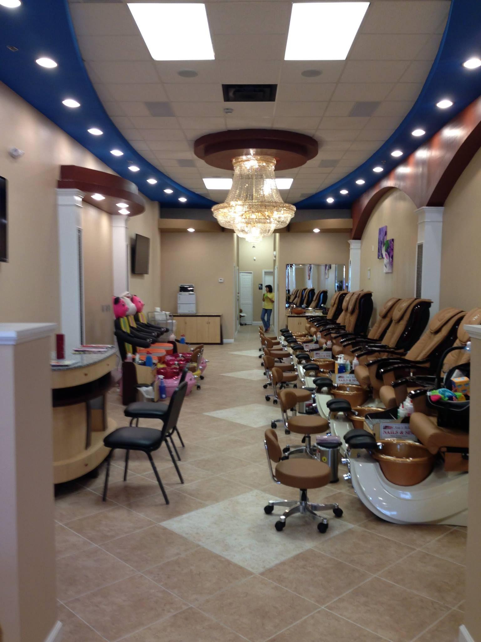 The Beautiful Interior Of Our Nail Salon In Destin FL