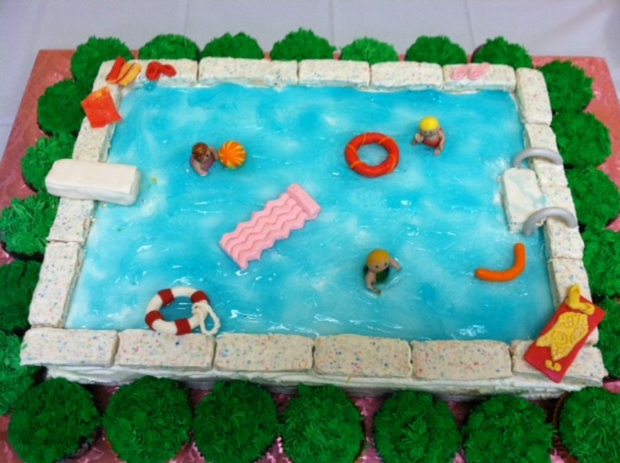 Swimming Pool Cake | Cake Ideas | Pinterest | Pool Cake, Cake And