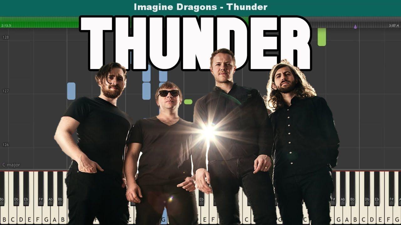 Thunder Piano Tutorial Free Sheet Music Imagine Dragons