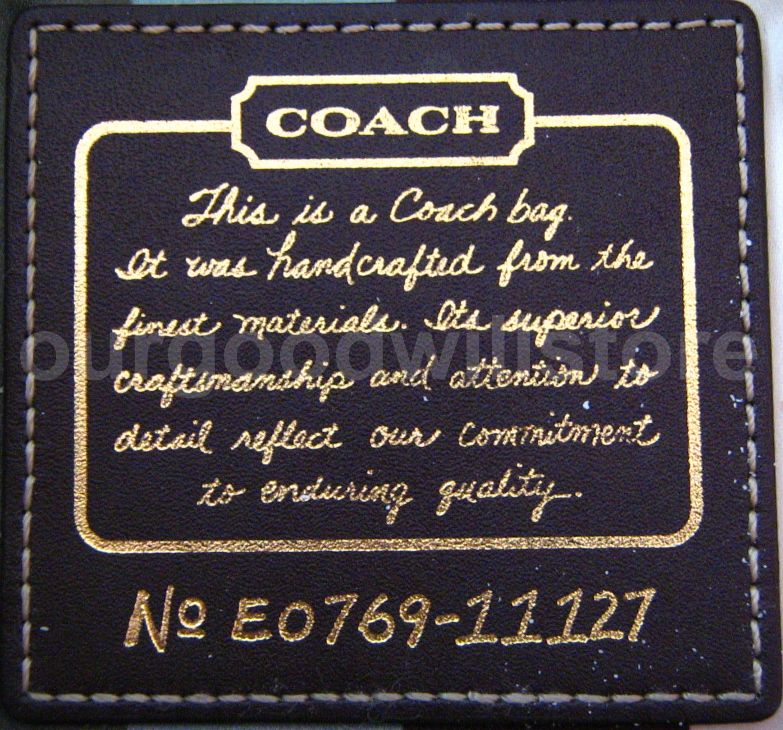 How to authenticate a coach bag with key generator