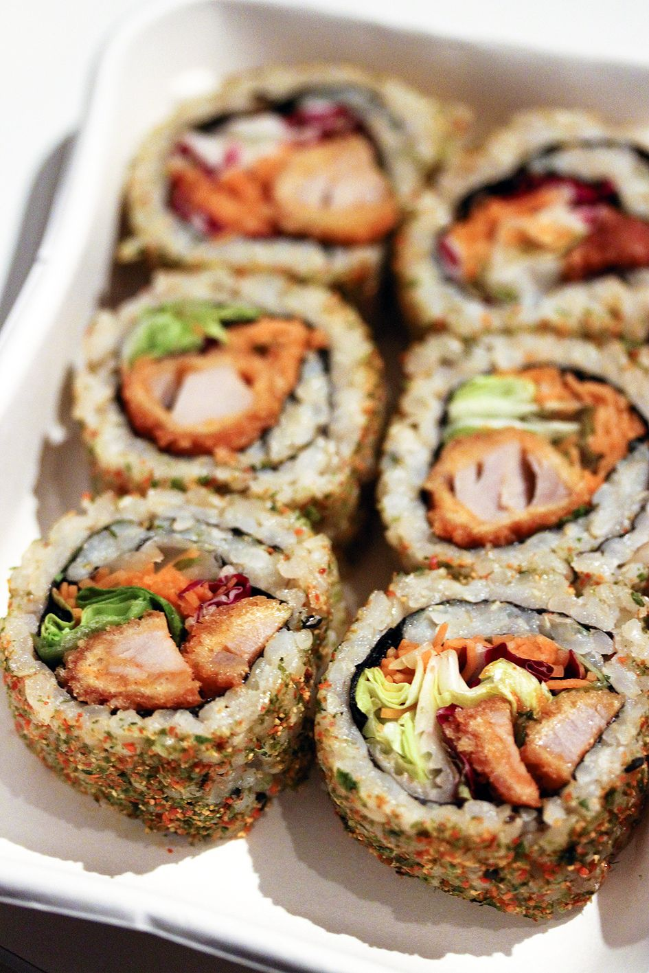 Spicy Tuna Tempura Maki – Link leads to spicy tuna rolls.  For Tuna Tempura recipe inside the rolls –