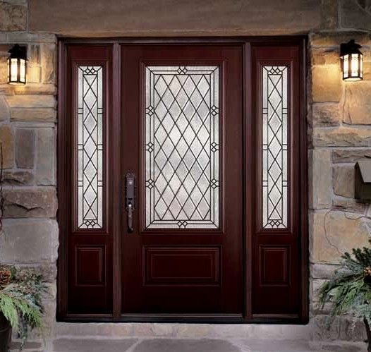 The Belleville In Mahogany By Masonite Gorgeous Entry Door