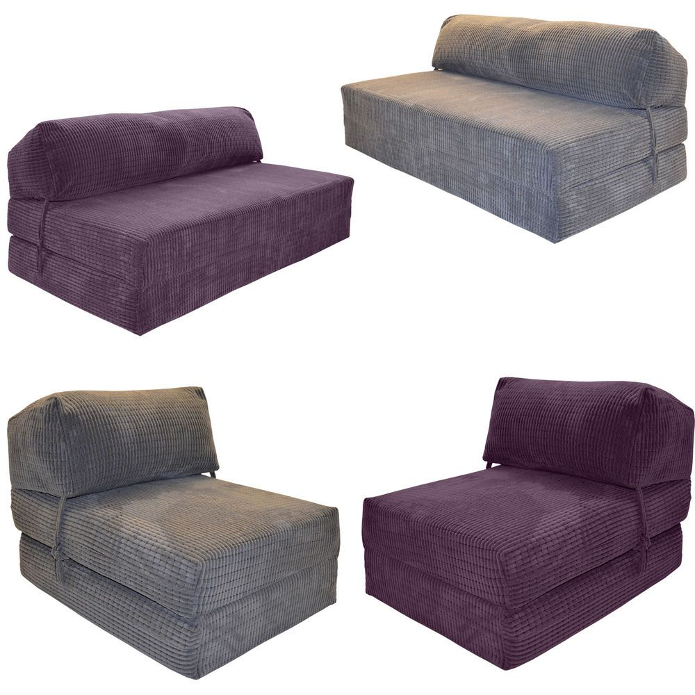 Deluxe Chair Sofa Z Bed Single Kids Fold Out Chairbed Foam