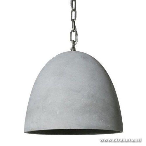 Stoere industriele hanglamp beton keuken | Straluma - verlichting ...