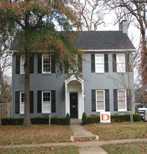 Painted Brick House Exterior 2 Story