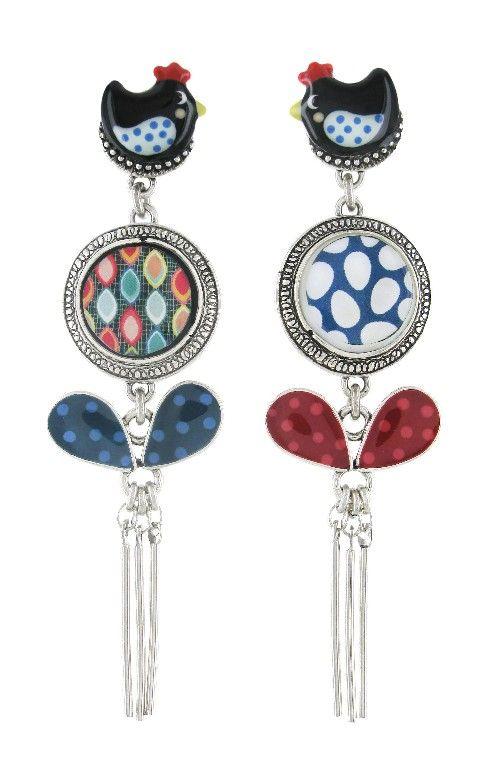 Boucles d'oreilles TARATATA. Bijoux créateurs. En vente en boutique et sur notre site internet :http://www.bijouterie-influences.com/search.php?search_query=taratata+pour+toujours