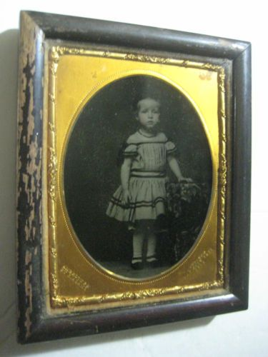 1850's 1 4P Ambrotype Young Boy in A Dress in Original Wooden Frame by R Adams | eBay