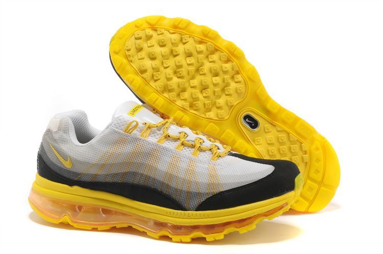 Mens Nike Air Max 95 360 White Black Yellow Shoes