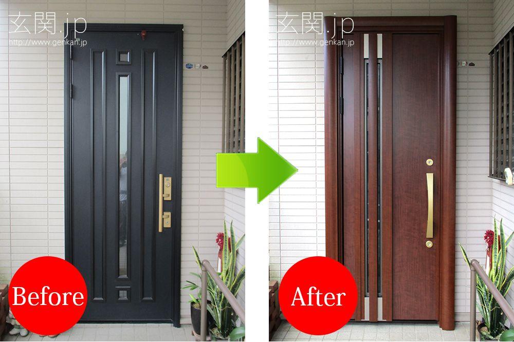 傷んでいない玄関ドアでも 最新の断熱 採風玄関ドアに変えて満足度
