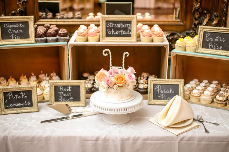 Wooden Crates Vintage Frames And An Ornate Cake Stand Created