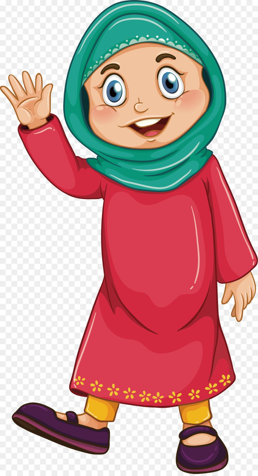 Muslim Girl Islam Clip Art Red Robed Islamic Women Png Is About Is About Boy Art Outerwear Human Behavior Child Muslim Girl Kartun Disney Kartun Disney