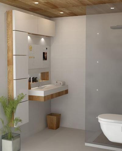 Kleines Bad – perfekt umgesetzt – Badideen Fliesen – Wasser