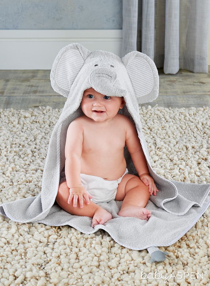 Little Peanut Elephant Hooded Spa Towel With Images Baby Robes