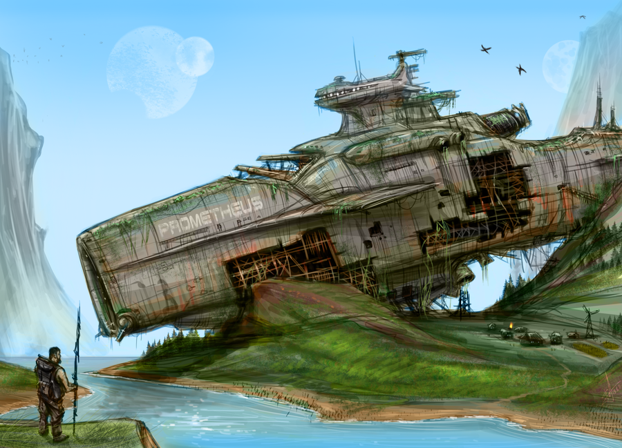 Colonists by AndyFil on deviantART | Derelict Spaceships ...