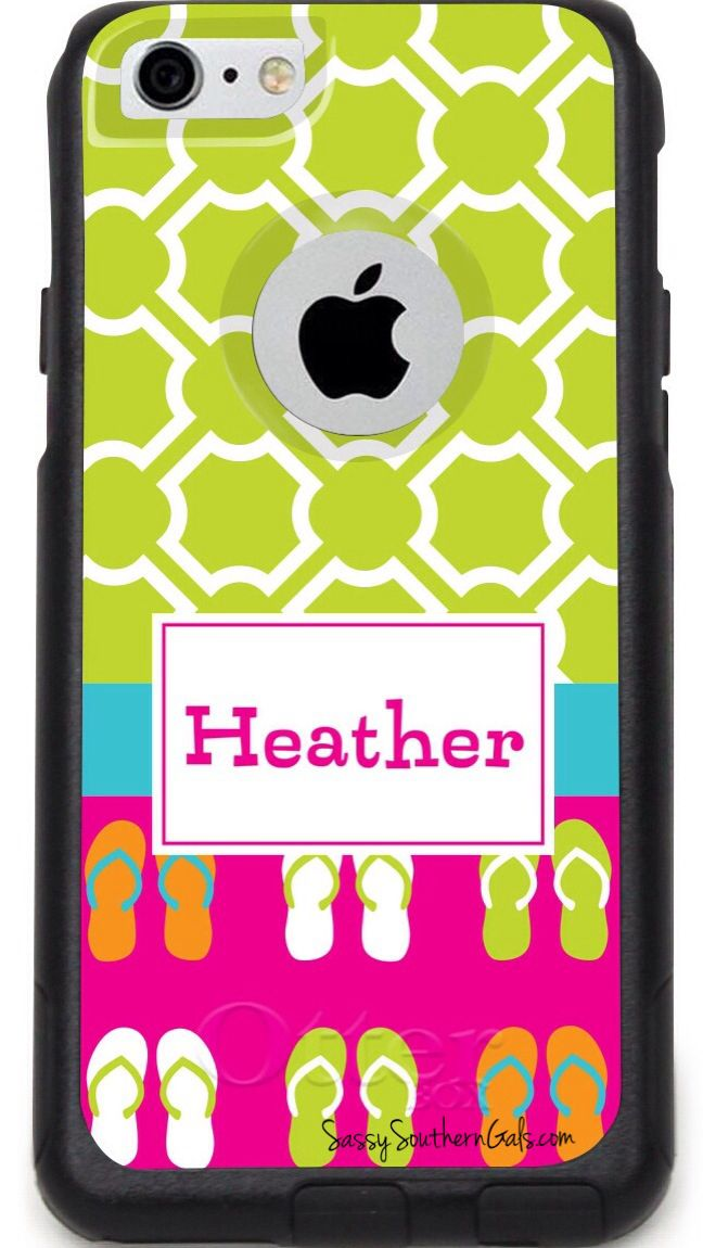 Monogrammed Otter Box for iPhone 6 or 6 plus on www.SassySouthernGals.com Monogrammed Gifts & Accessories