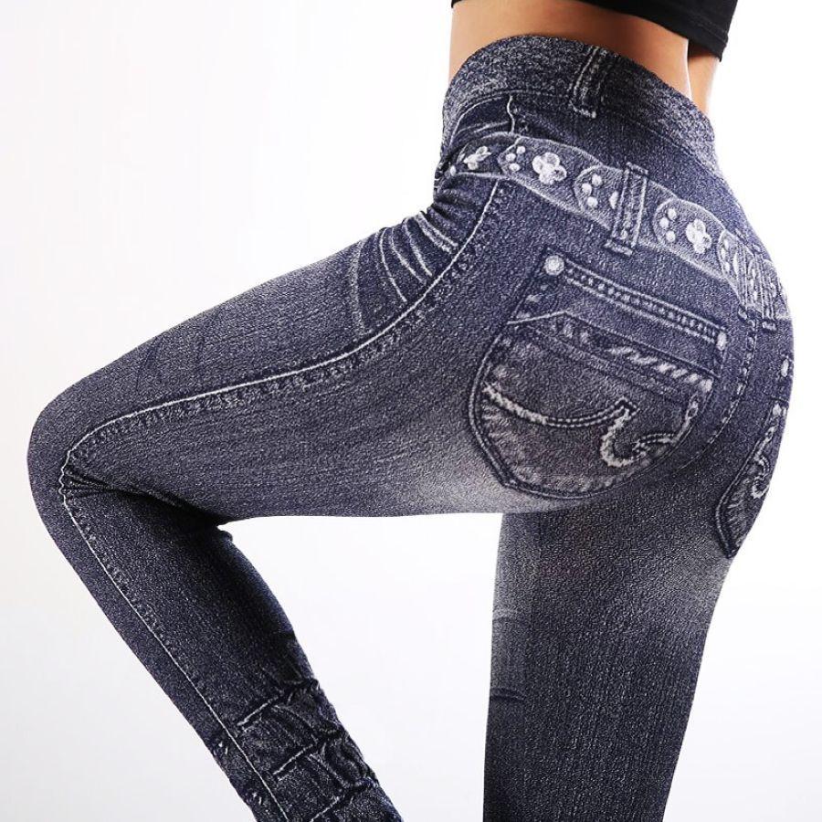 Leggings Hot Jeans Mujer Pantalones Mezclilla Pantalones De Mezclilla Leggings Mezclilla