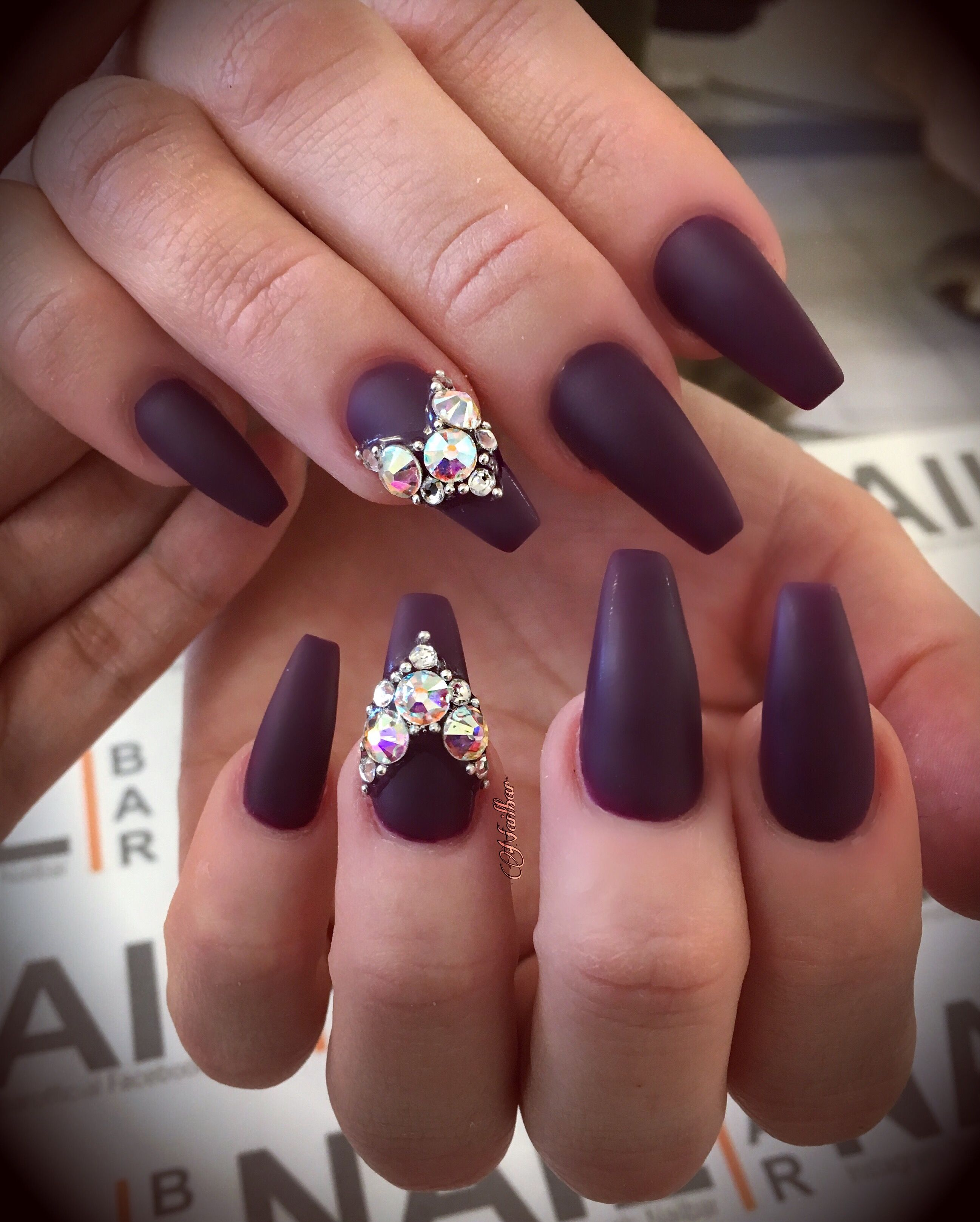 Pin by Valerie Okeefe on fancy nails rhinestones | Pinterest | Nail ...