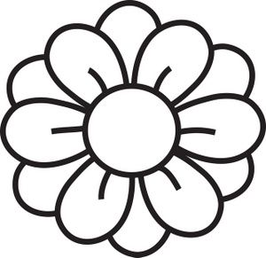 Flower black and white. Hawaiian clip art clipart