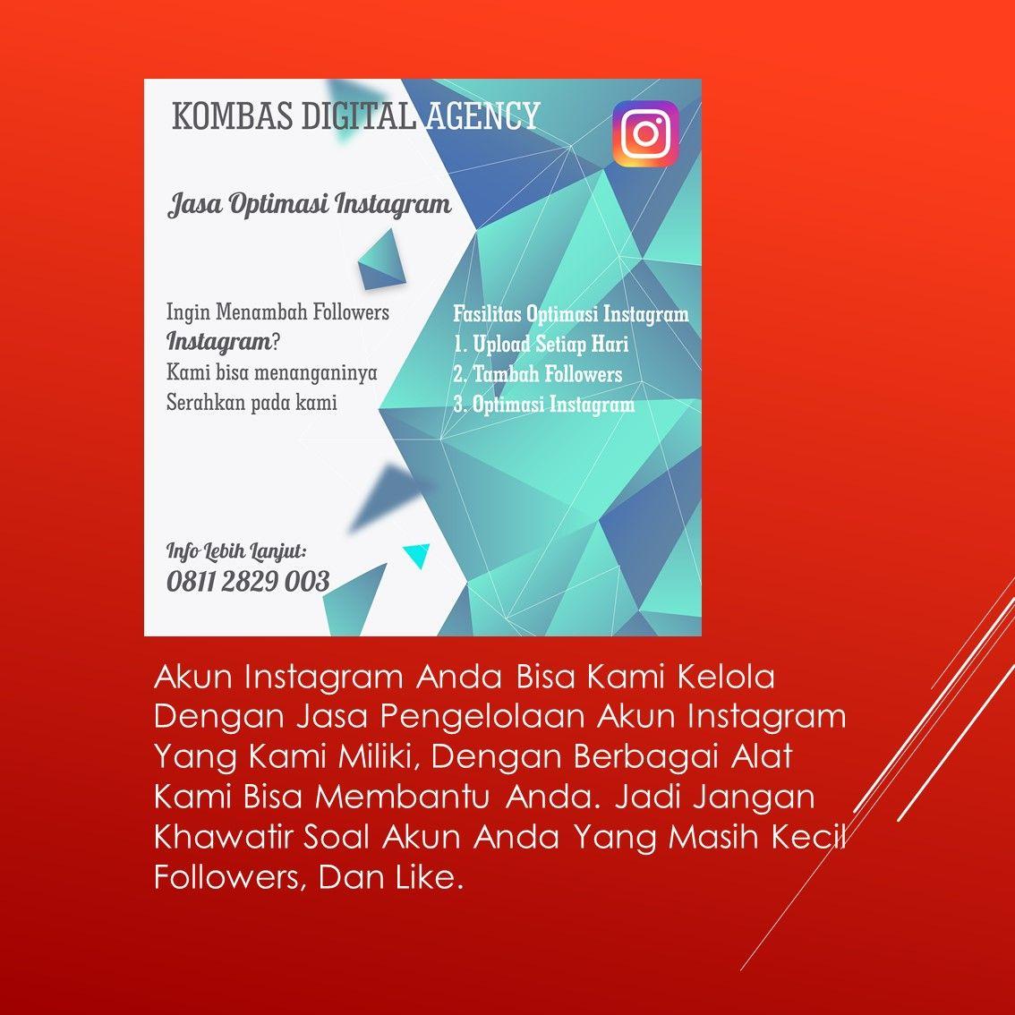 Pin Di Termurah Jasa Pengelolaan Instagram Wa Sms Telp 0811 2829 003