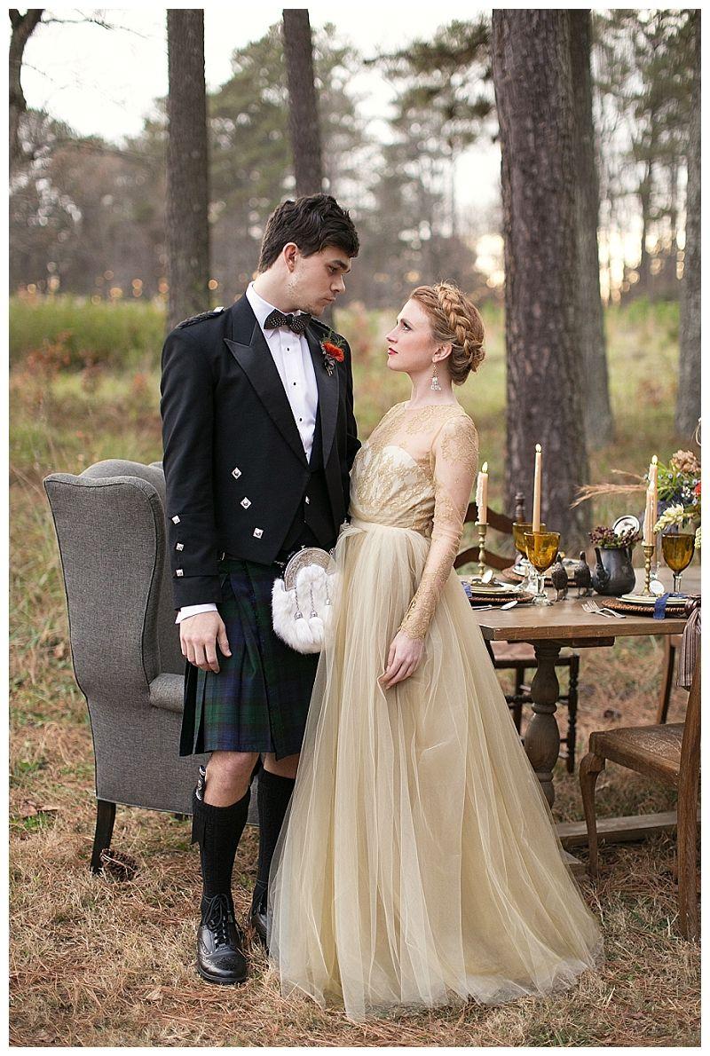 Schottische Hochzeitskleider