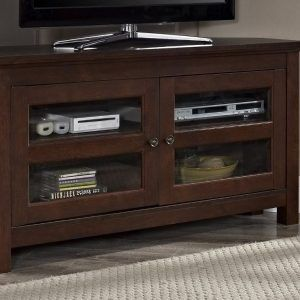 Corner Stereo Cabinet Wood