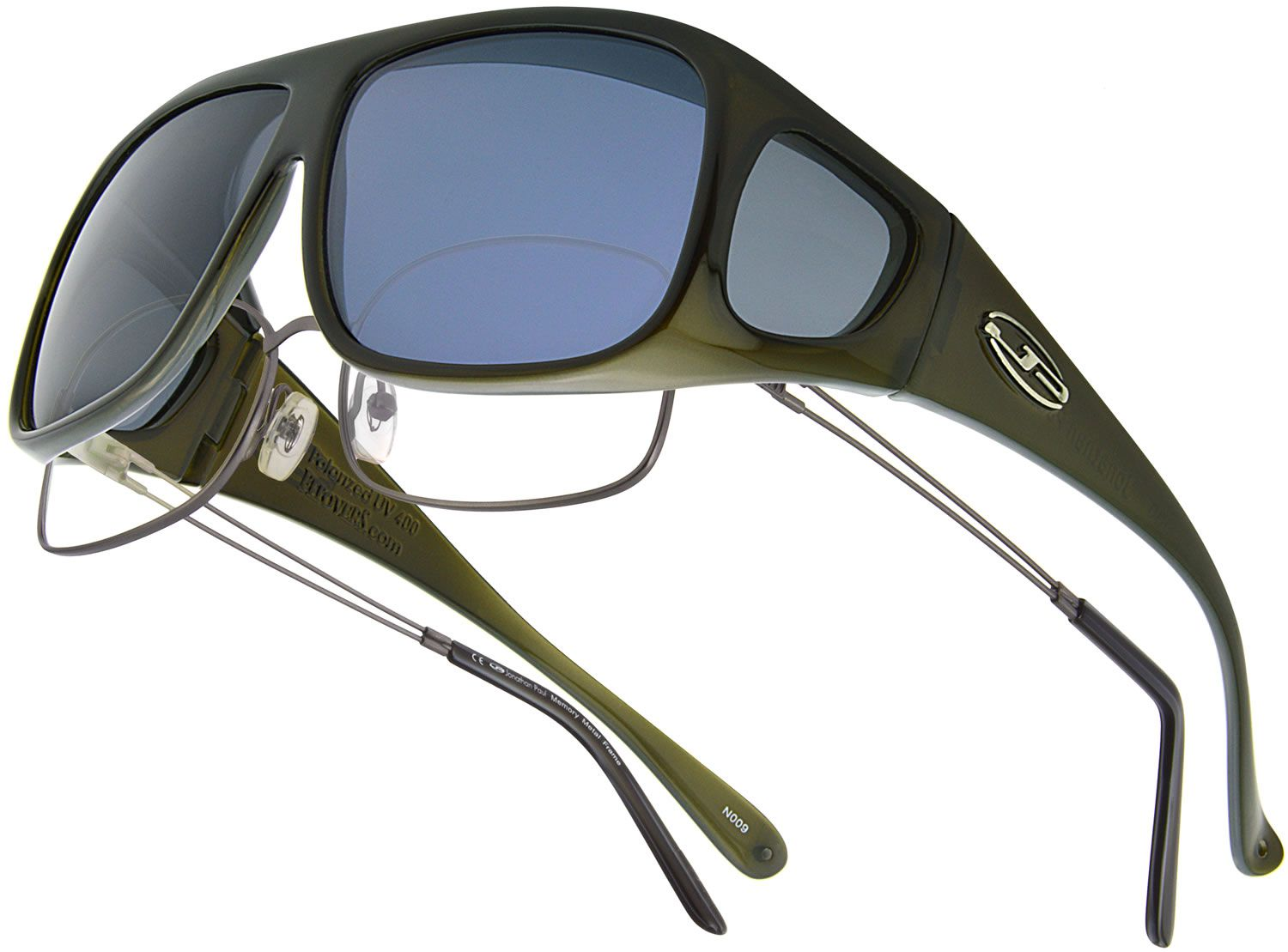 5802897ff9 Navigator Olive Crystal (Polarvue® Gray) - Fitover Sunglasses that are  specifically designed to